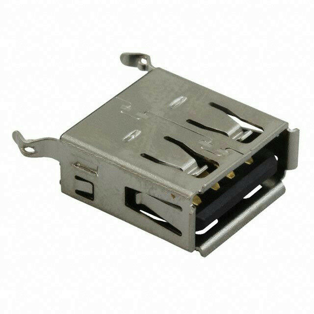 Amphenol UE27AE54100 USB A 2.0 Receptacle Connector 4 Position Vertical Gold