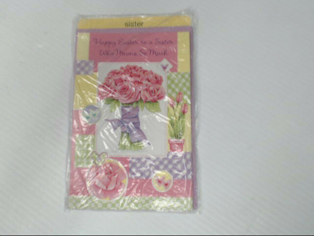 "American Greetings SIster Easter Card ""Happy Easter to a"" Retail Pack of 6"
