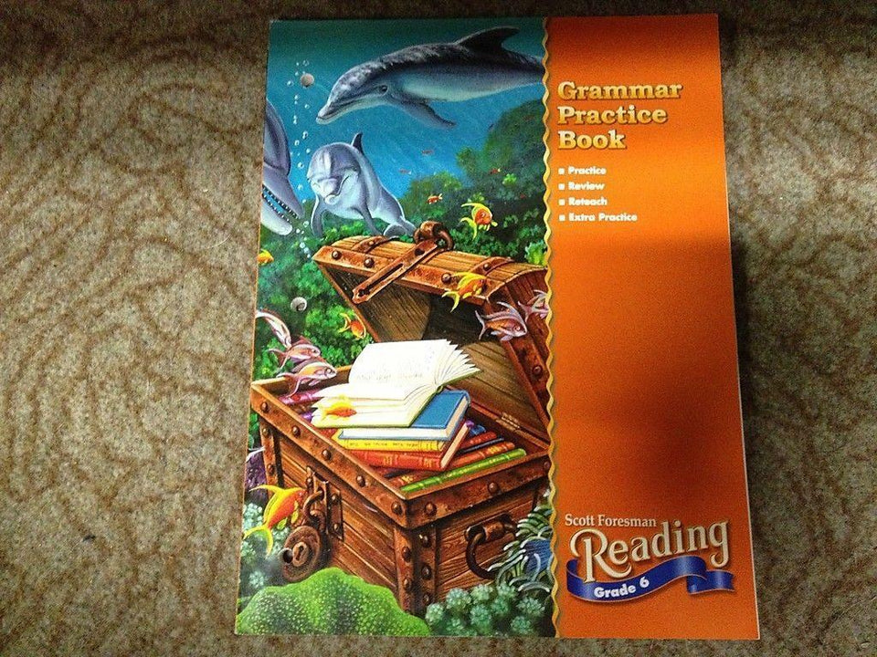 Scott Foresman Grammar Practice Book Reading 2000 Grade 6 Paperback *Free Ship*