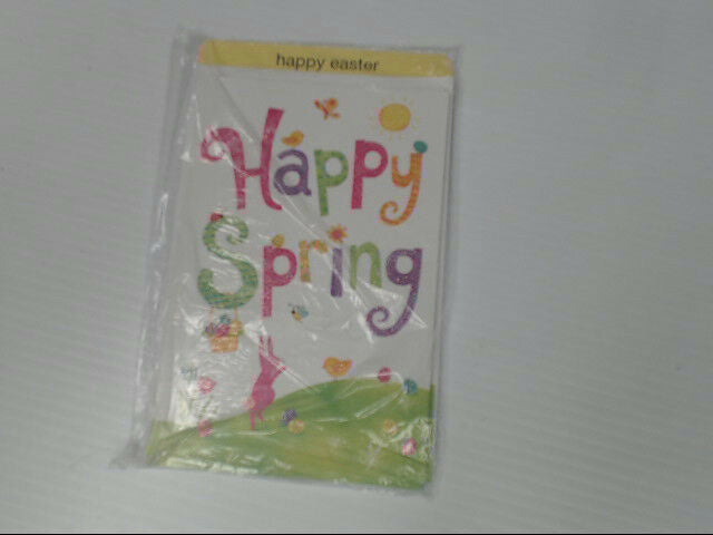 "American Greetings Happy Easter Card ""Happy Spring"" Glitter Retail Pack of 6"