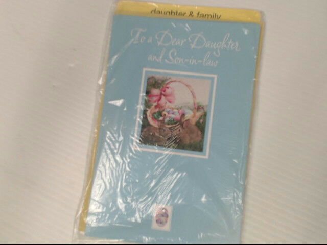 "American Greetings Daughter & Family Easter Card ""To A Dear"" Retail Pack of 6"