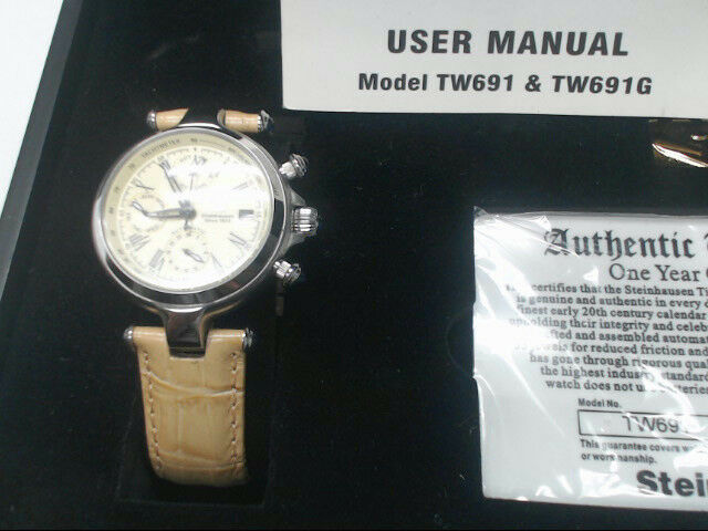 Steinhausen Marquise Silver Women's Watch TW691S Automatic Movement w/ Sand Band