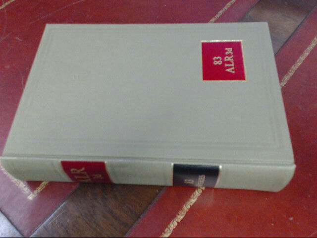 American Law Reports ALR 3d Series Law Book Volume 83 Cases & Annotations 1978