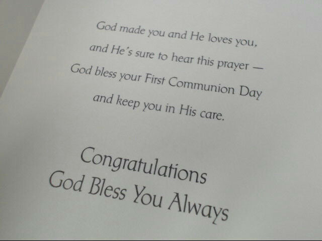 "American Greetings Her Communion Card ""Communion Blessings"" Retail Pack of 6"