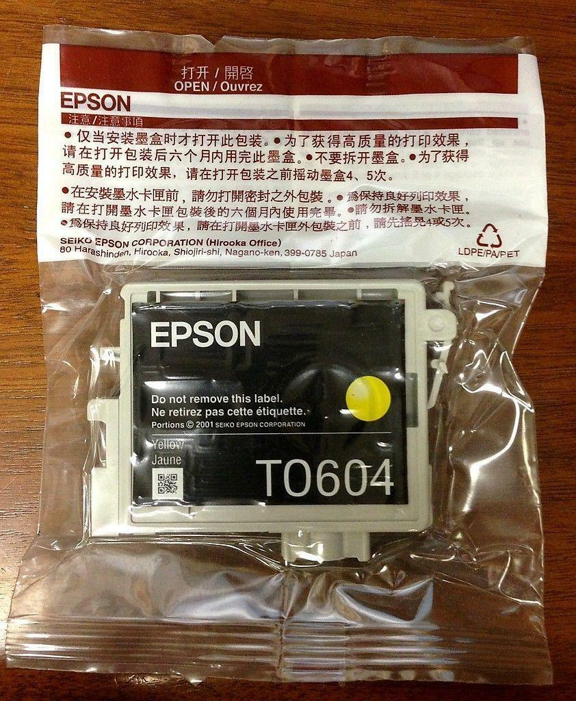 Genuine Epson Yellow Ink Cartridge T0604 *New & Free Shipping with Tracking*