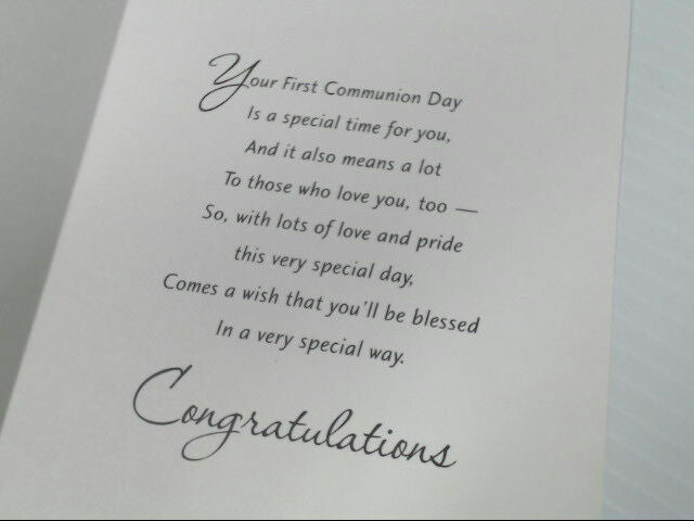 "American Greetings Communion Card ""On Your First Communion Day"" Retail Pack of 6"