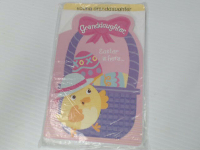 "American Greetings Young Granddaughter Easter Card ""Is Here..."" Retail Pack of 6"