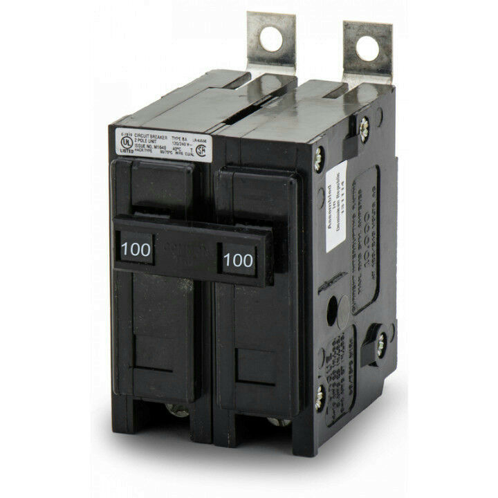Eaton Cutler-Hammer BAB2100 Bolt-On Miniature Circuit Breaker 2P 100A 120/240V