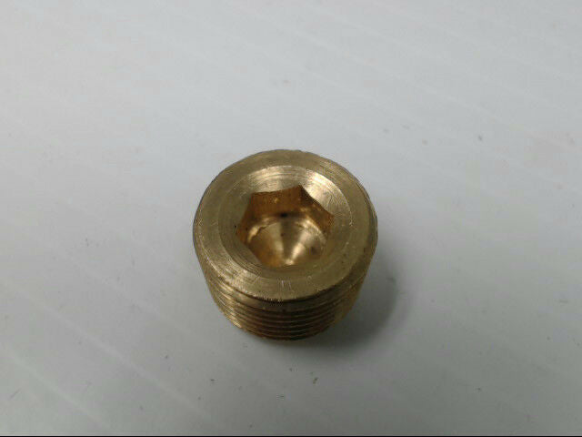 "Brass P-101-CS-6 Male Countersunk Hex Plug Pipe 3/8"" Adapter Fitting *Pack of 10"