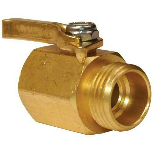 "A.M. Leonard SO58 Brass Water Shut off Valve For All Hoses 1/2"" Inner Opening"