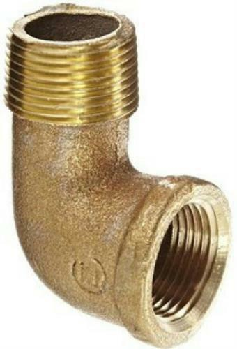 "Lee Brass 602540395LF Pipe Fitting 90º Street Elbow 1-1/2"" NPT Male x Female"