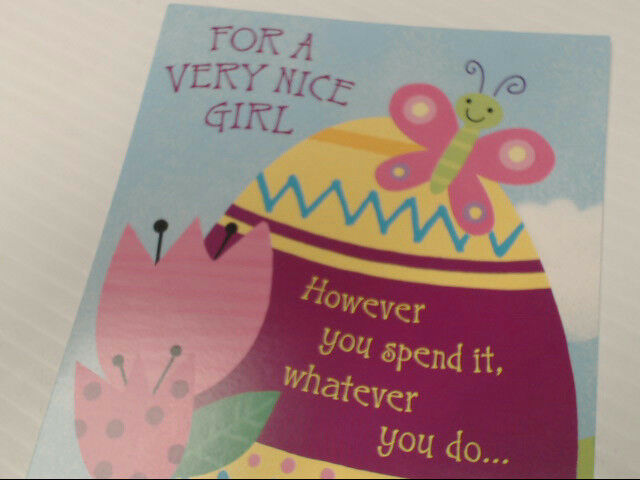"American Greetings For a Girl Easter Card ""For a Very Nice"" Retail Pack of 6"