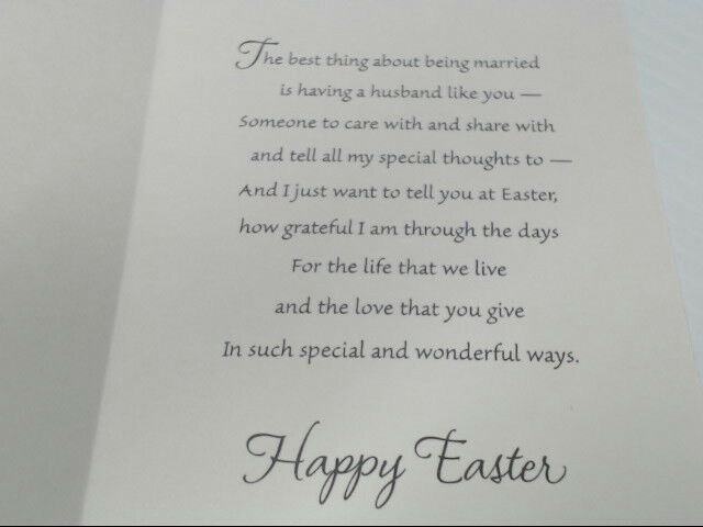 "American Greetings Husband Easter Card ""To My Wonderful"" Retail Pack of 6"