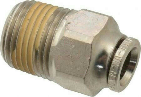 "IMI Norgren 124250538 Pneumatic Male Adapter Fitting 5/16"" Tube x 3/8"" Male NPT"