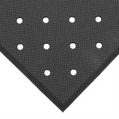 Apex 3' x 3' Superfoam Punched Black Brainage Foodservice Mat T17P0033BL