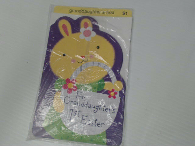 "American Greetings Granddaughter's First Easter Card ""For 1st"" Retail Pack of 6"