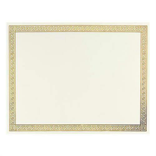 "Great Papers! 936070 Foil Certificate 8-1/2"" x 11"" Channel Border *Pack of 12*"