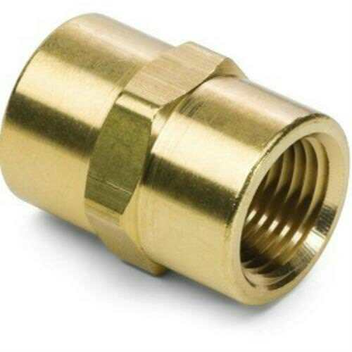 "Kimball Midwest 3300x4 Brass Pipe Coupling 1/4"" x 1/4"" NPT Female *Single*"