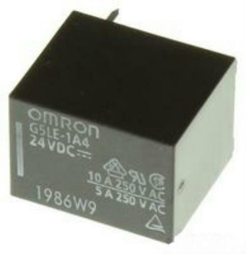 Omron G5LE-1A4-E DC24 PCB Mount Power Relay SPST 250V 10A Contacts 24VDC *Qty 5*