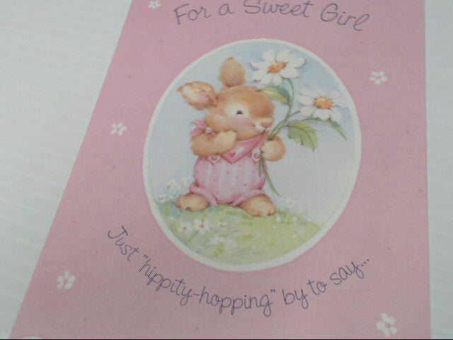 "American Greetings For a Girl Easter Card ""For a Sweet Girl"" Retail Pack of 6"