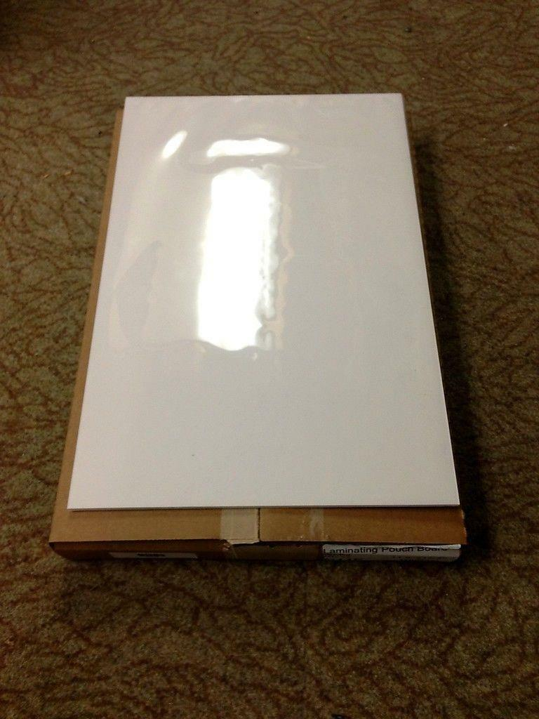 "Laminating Pouch Board White Gloss 11.5"" x 17.5"" 602420 Box of 10 *Free Shipping"