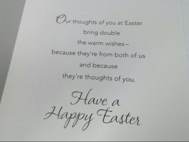 "American Greetings From Both Easter Card ""Best Wishes From Us"" Retail Pack of 6"