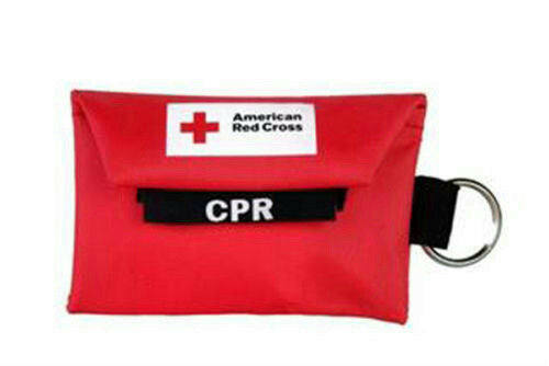 American Red Cross Mini Keychain CPR Kit with Face Shield & Gloves ARC-CPR-03