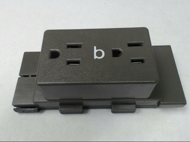 Herman Miller A1311.B Cubical Panel Duplex Receptacle AO Series Medium Tone QTY3