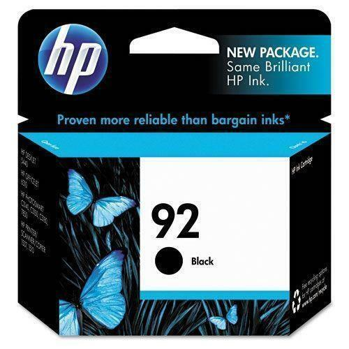 HP Black Ink Cartridge HP 92 For C9362W