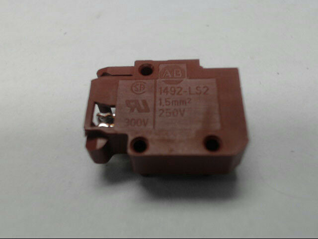 Allen-Bradley 1492-LS2-BR Terminal Block 10A 5-30V AC/DC Plug-In Brown 1.5mm
