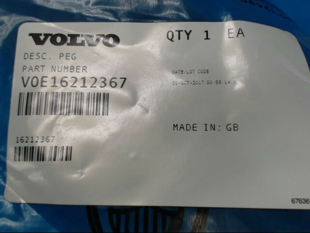 Volvo 16212367 Heavy Peg VOE16212367 *Brand New & Free Shipping*