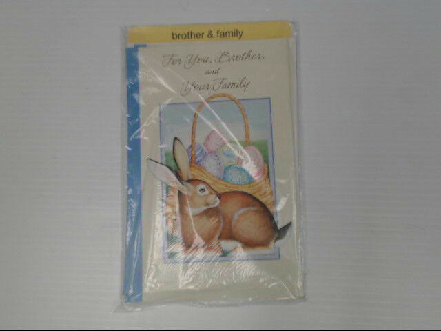 "American Greetings Brother & Family Easter Card ""For you"" Retail Pack of 6"