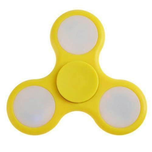 Fidget Spinner Yellow LED Multi-Colored Lights *Dead Batteries on all 3 Sides*