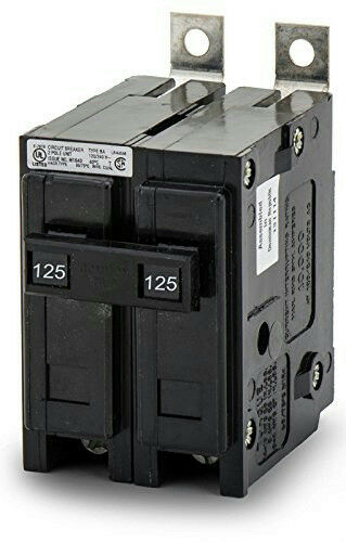 Eaton Cutler-Hammer BAB2125 Bolt-On Miniature Circuit Breaker 2P 125A 120/240V