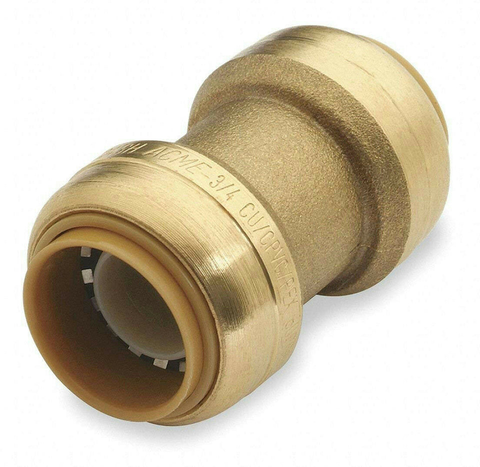"Cash Acme SharkBite 3/4"" x 3/4"" Push-to-Connect Straight Coupling U016LF"