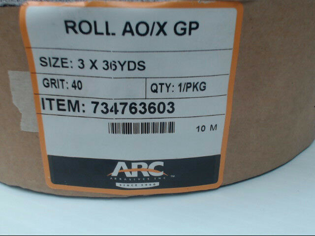 "Arc Abrasives AO/X GP 3"" x 36yds/108ft Roll 40 Grit 734763603"
