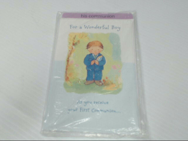 "American Greetings His Communion Card ""For a Wonderful Boy"" Retail Pack of 6"