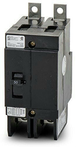 Eaton Culter-Hammer GHB2050 Molded Case Circuit Breaker GHB 2 Pole 50A 277/480V