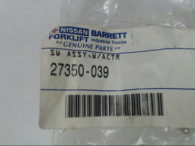 Genuine Barrett Nissan Forklift Parts 27350-039 Switch Assembly with Actuator