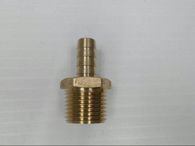 "Brass P-202-68 Hose Barb to Male Pipe 3/8"" x 1/2"" BARB x MPT Fitting *Pack of 10"
