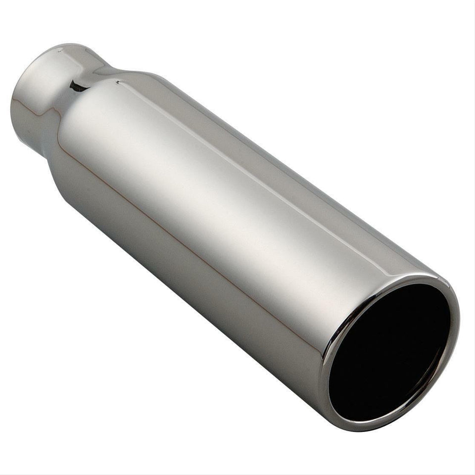 "Summit Racing 12"" x 2.5"" x 3.5"" Straight Stainless Steel Exhaust Tip SUM-690043"