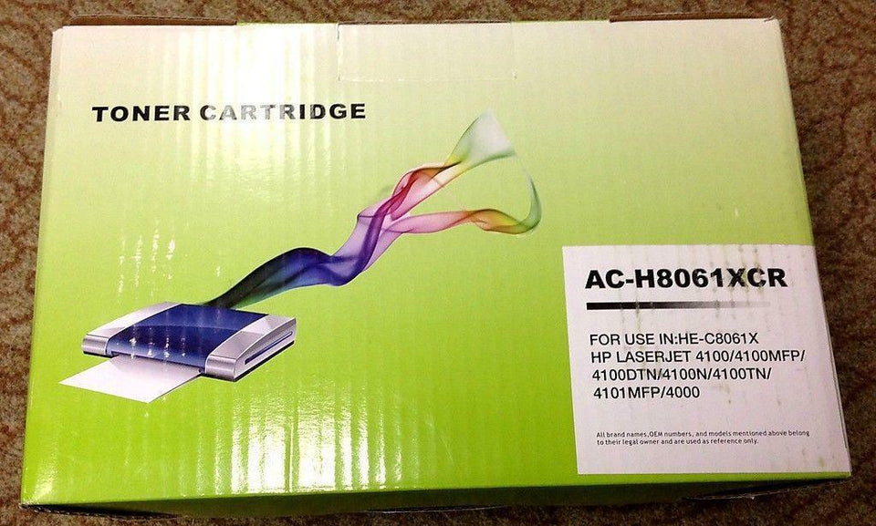 HP Generic Black Toner Cartridge AC-H8061XCR HE-C8061X Brand New & Free Shipping