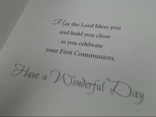 "American Greetings Her Communion Card ""First Communion Wishes"" Retail Pack of 6"