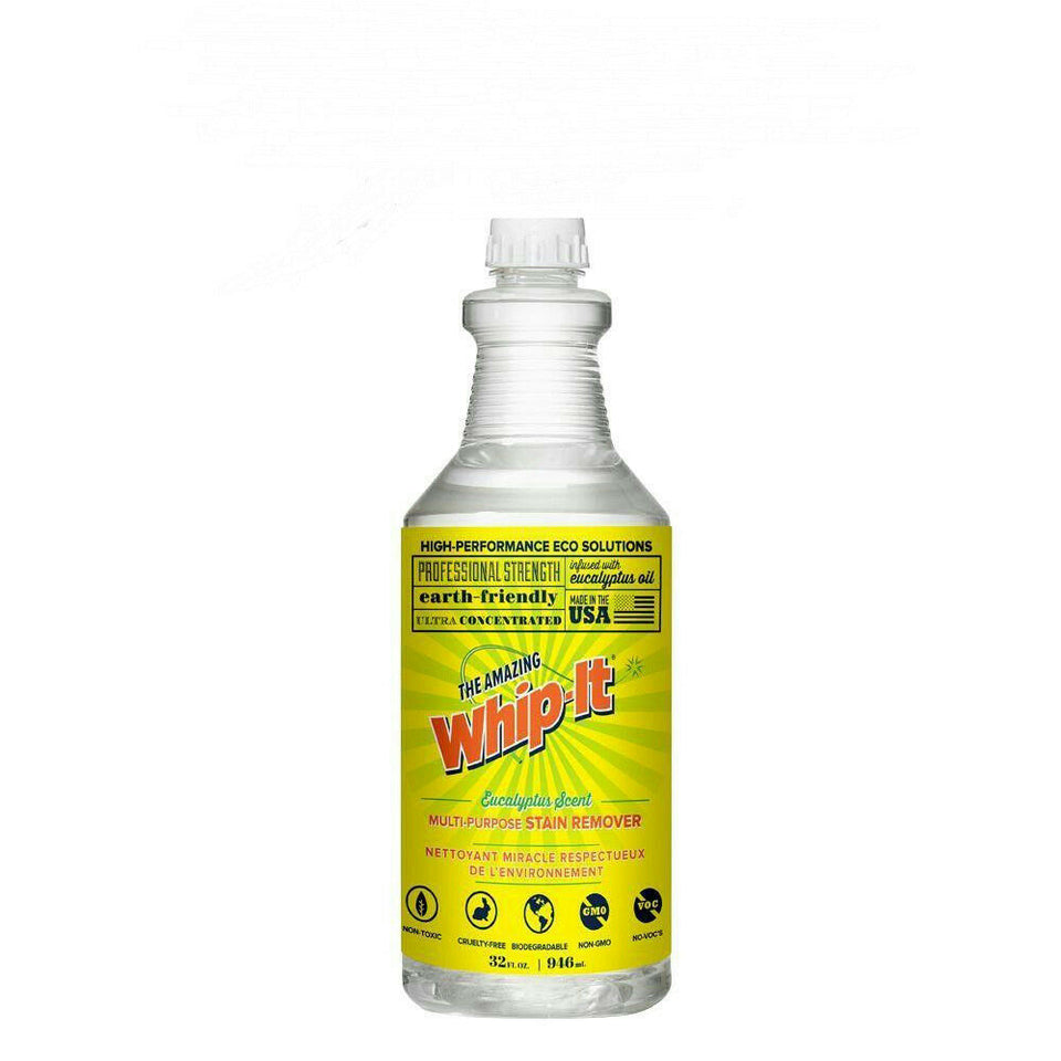 Whip-It Multi-Purpose Stain Remover 32oz Refill Bottle Eucalyptus Scent