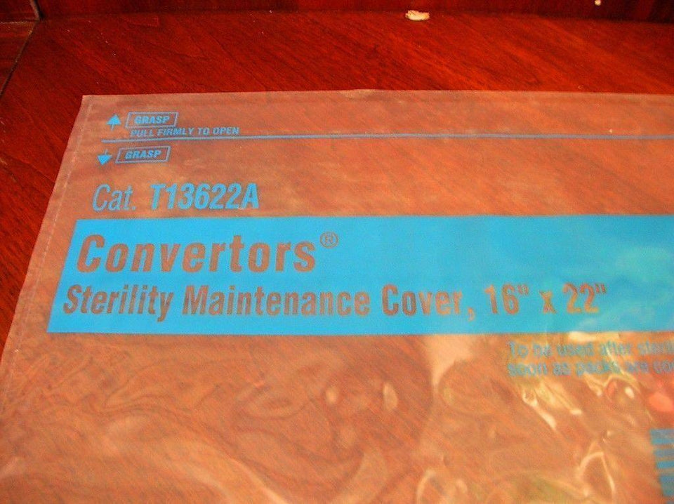 "Cardinal Health 16"" x 22"" Self-Seal Sterility Maintenance Cover T13622A Qty 10"
