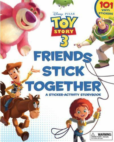 Toy Story 3 Friends Stick Together Activity Storybook with 101 Vinyl Stickers