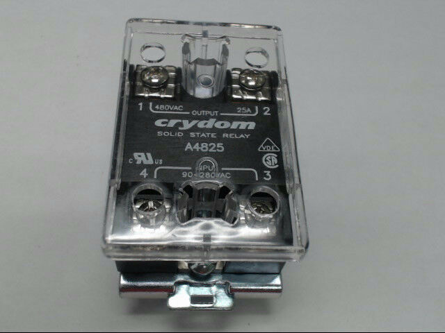 Crydom A4825 Solid State Relay 25 Amp Panel Mount with Hardware & Cover