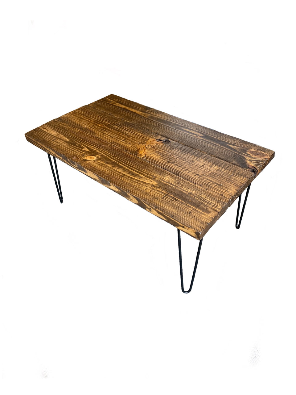 ThorWoods Handmade Rustic Distressed Real Wood Coffee Table Hairpin Legs
