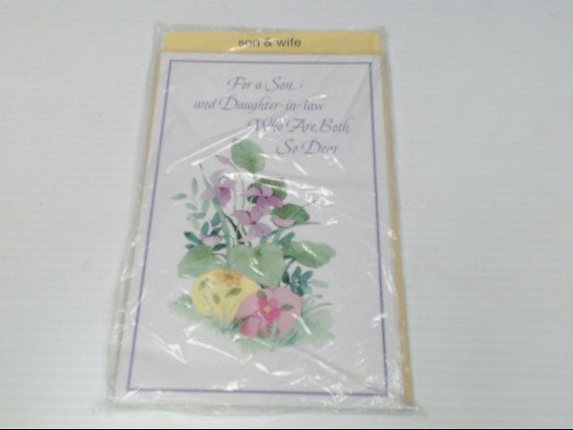 "American Greetings Son & Wife Easter Card ""For a Son and"" Retail Pack of 6"