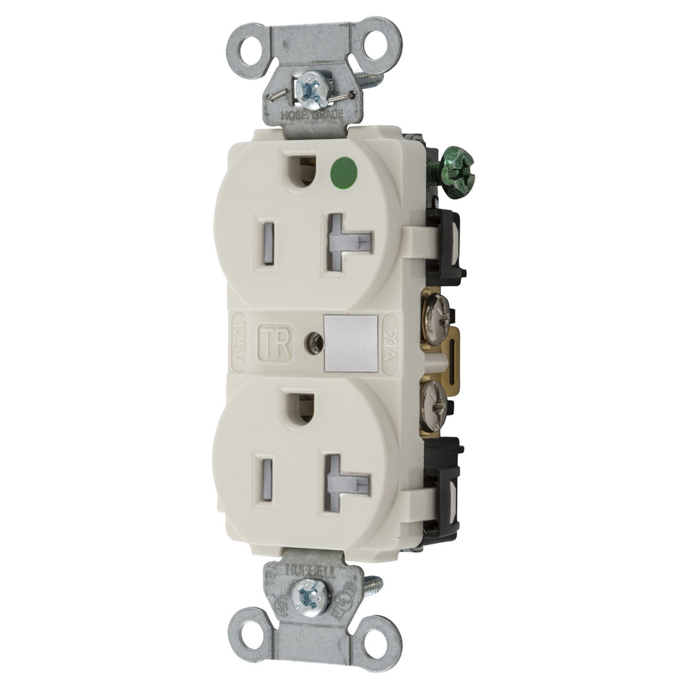 Hubbell Wiring Device-Kellems 8300LATRA Tamper Resistant Receptacle 20A 125V